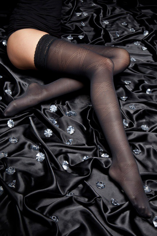 140 DEN EMOTION THIGH-HIGH STOCKINGS